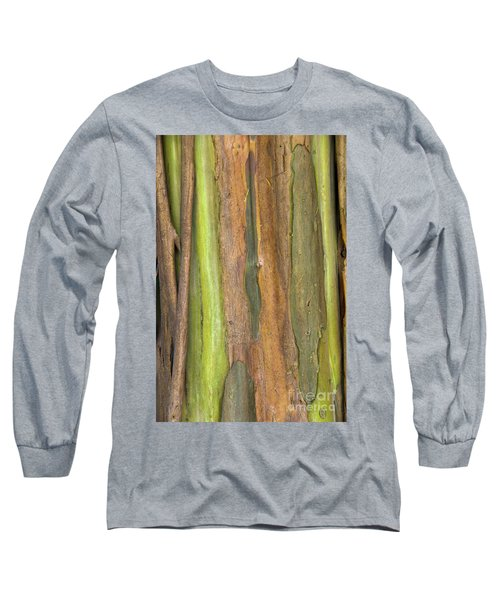 Long Sleeve T-Shirt featuring the photograph Green Bark 3 by Werner Padarin