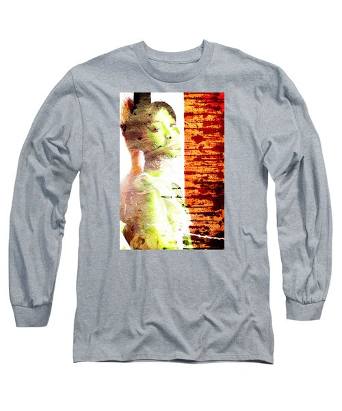 Long Sleeve T-Shirt featuring the digital art Green Bauty by Andrea Barbieri