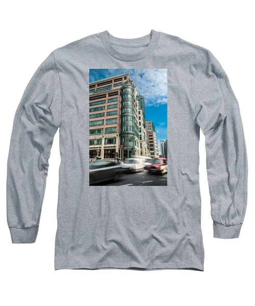 Green Building On Liverpool Metro Station London Long Sleeve T-Shirt