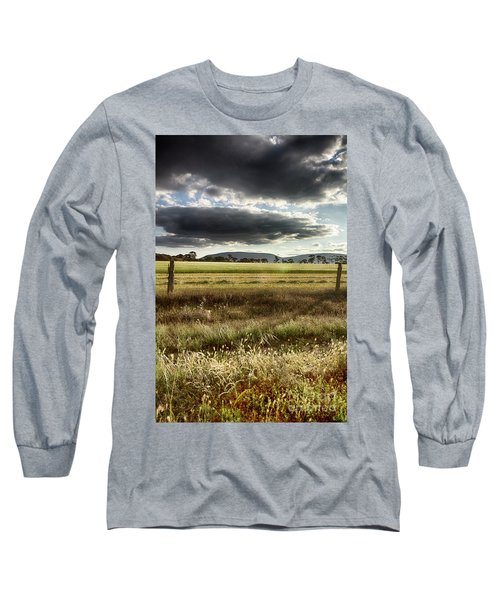 Green Fields 6 Long Sleeve T-Shirt by Douglas Barnard