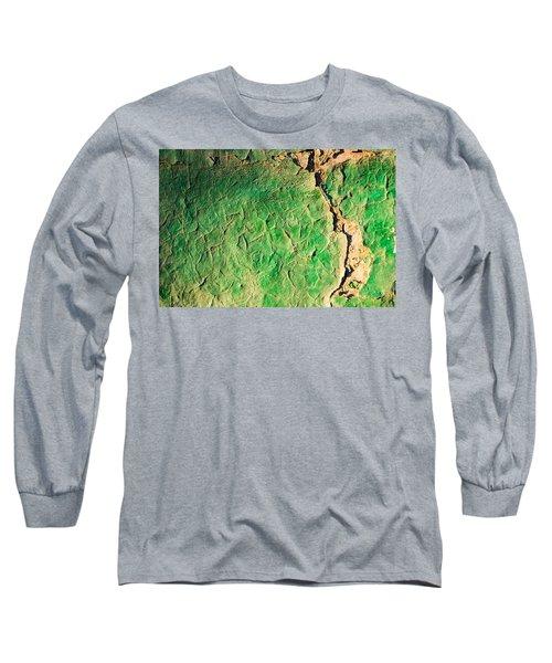 Green Flaking Brickwork Long Sleeve T-Shirt
