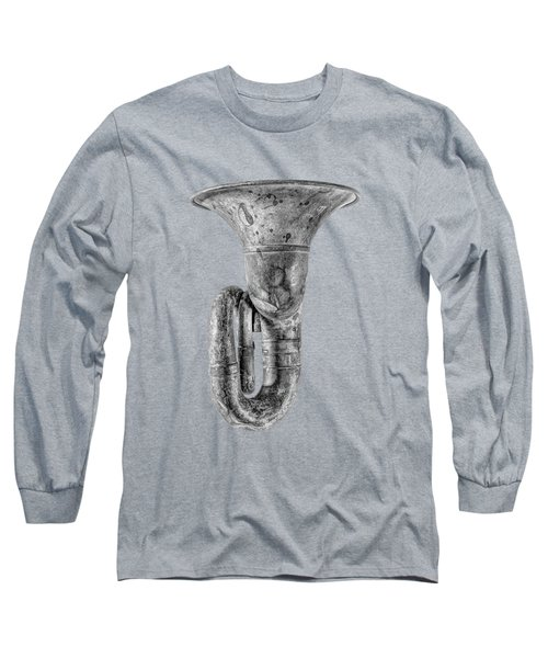 Green Horn Up Bw Long Sleeve T-Shirt by YoPedro