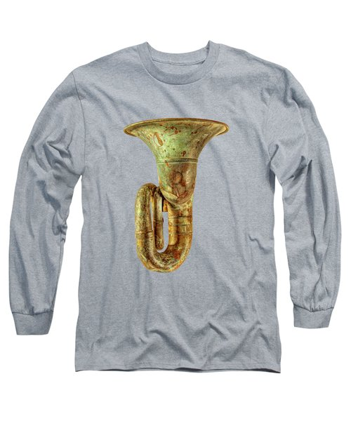 Green Horn Up On Black Long Sleeve T-Shirt by YoPedro