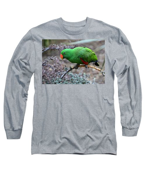 Green Male Eclectus Parrot Long Sleeve T-Shirt