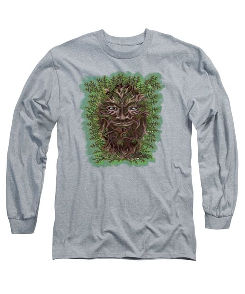 Green Man Of The Forest Long Sleeve T-Shirt