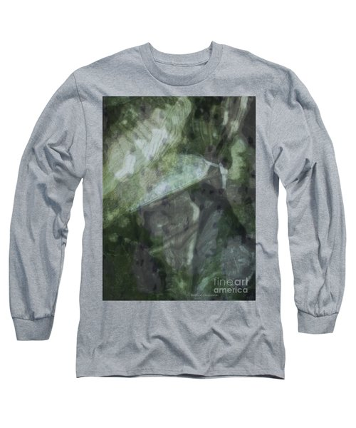 Green Mist Long Sleeve T-Shirt by Kathie Chicoine