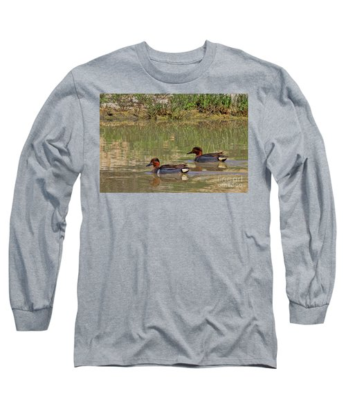 Green Winged Teal Long Sleeve T-Shirt
