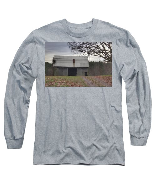 0014 - Grey Horse Barn Long Sleeve T-Shirt