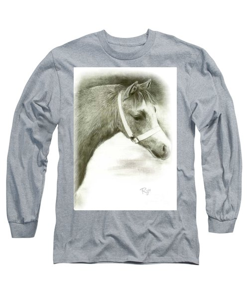 Grey Welsh Pony  Long Sleeve T-Shirt