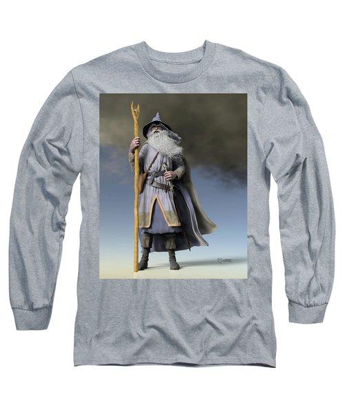 Grey Wizard Long Sleeve T-Shirt