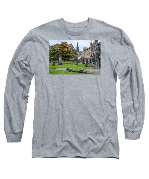 Greyfriars Kirkyard 1562  Long Sleeve T-Shirt by Amy Fearn