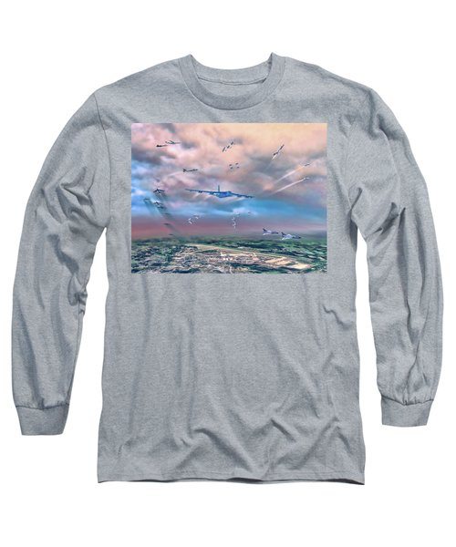 Griffiss Afb Rome Ny Long Sleeve T-Shirt by Dave Luebbert