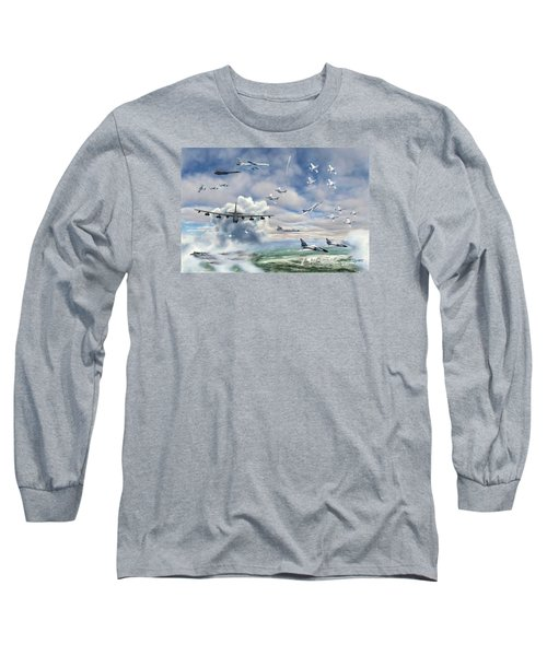 Long Sleeve T-Shirt featuring the painting Griffiss Air Force Base by Dave Luebbert