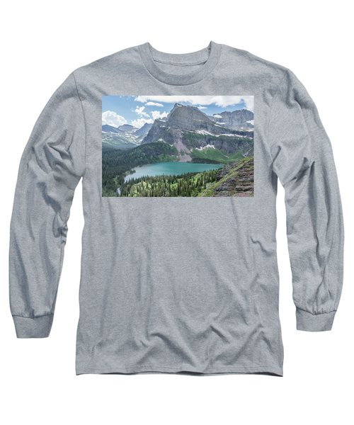 Grinnell Lake From Afar Long Sleeve T-Shirt