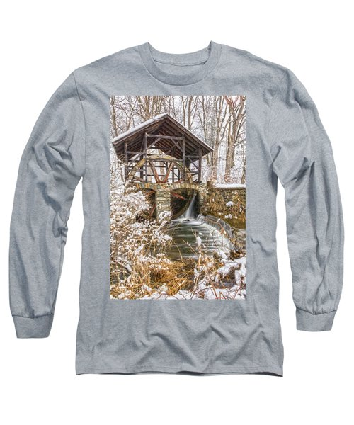 Grist Mill In Fresh Snow Long Sleeve T-Shirt