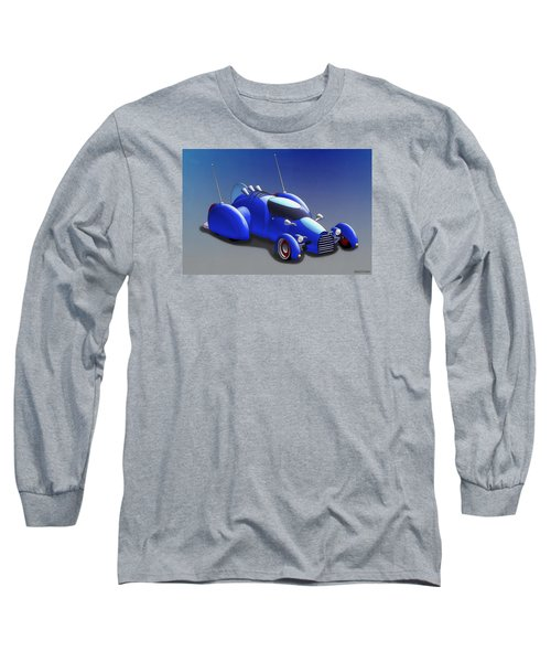 Grobo-car Long Sleeve T-Shirt by Ken Morris