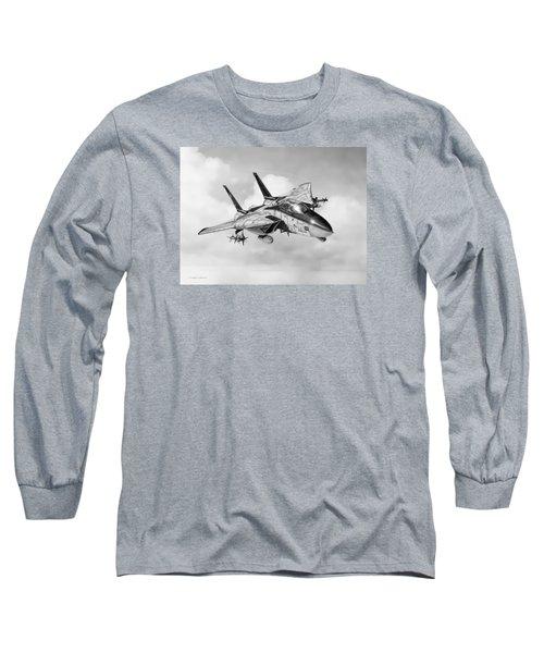 Grumman F-14 Tomcat Long Sleeve T-Shirt by Douglas Castleman