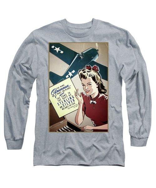 Grumman Sterling Poster Long Sleeve T-Shirt