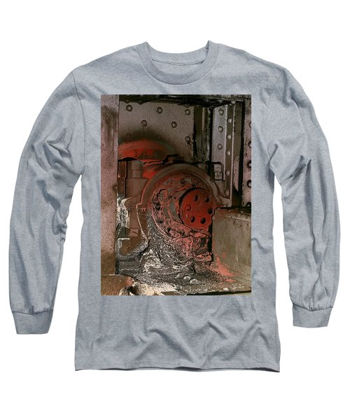 Long Sleeve T-Shirt featuring the photograph Grunge Gear Motor by Robert G Kernodle
