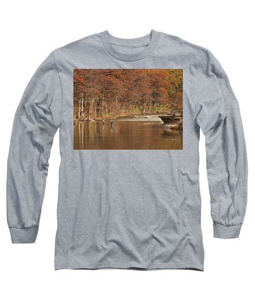 Guadalupe River Fly Fishing Long Sleeve T-Shirt