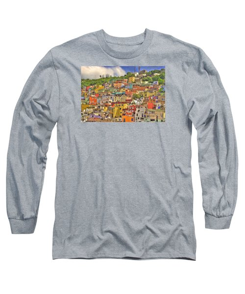 Guanajuato Hillside Long Sleeve T-Shirt by Juli Scalzi