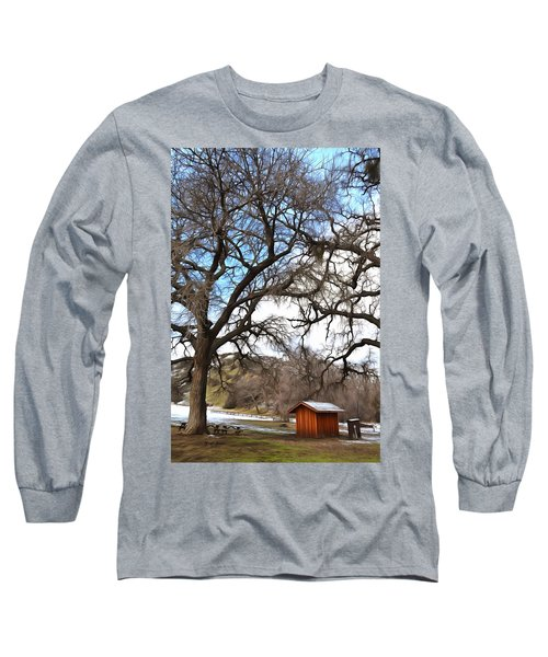 Long Sleeve T-Shirt featuring the photograph Guard Shack At Fort Tejon Lebec California by Floyd Snyder