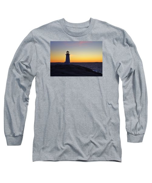 Peggy's Cove Lighthouse Long Sleeve T-Shirt by Heather Vopni