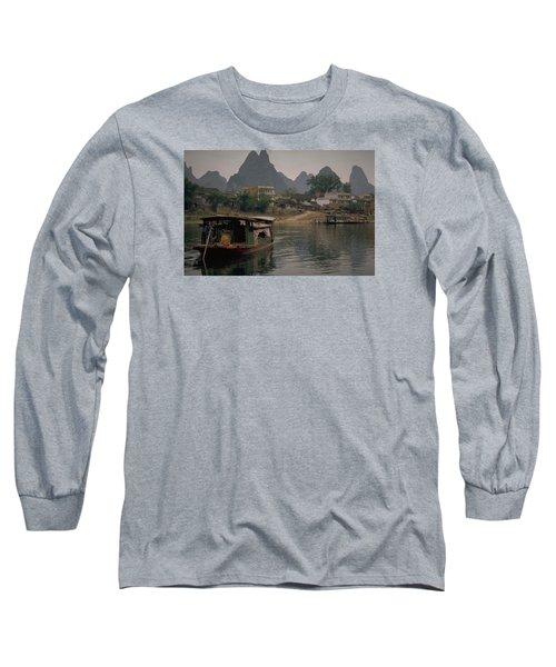 Guilin Limestone Peaks Long Sleeve T-Shirt by Travel Pics