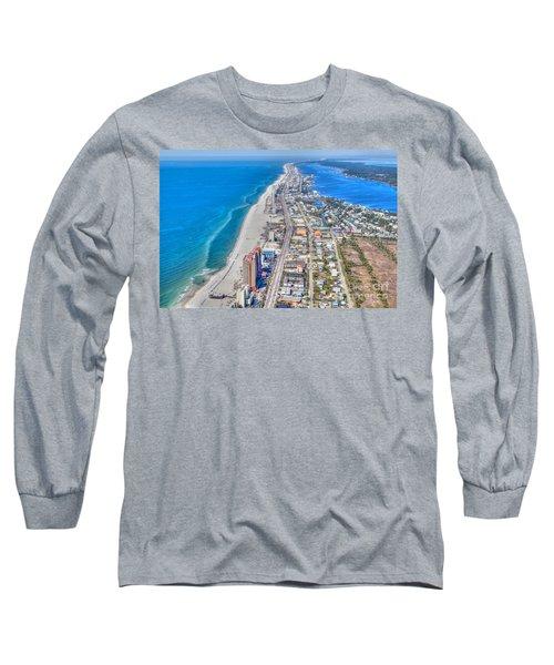 Gulf Shores Beach Looking W Long Sleeve T-Shirt
