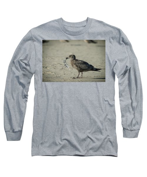 Gull And Feather Long Sleeve T-Shirt
