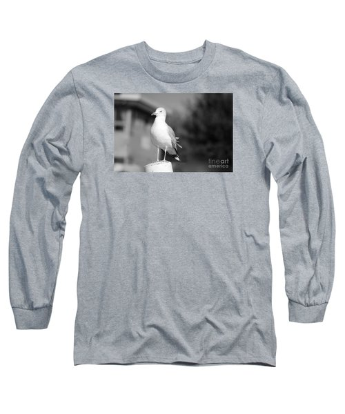 Gull In Black And White Long Sleeve T-Shirt