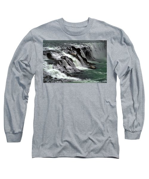 Gullfoss Waterfalls, Iceland Long Sleeve T-Shirt
