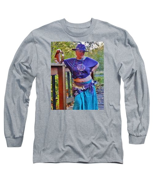 Gypsy Belly-dancer Long Sleeve T-Shirt by VLee Watson