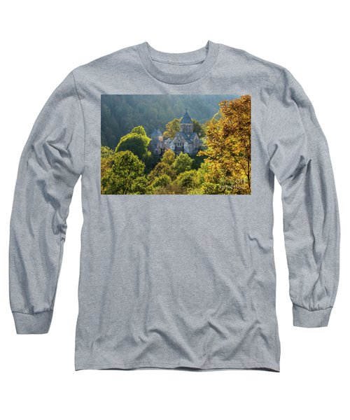 Haghartsin Monastery With Trees In Front At Autumn, Armenia Long Sleeve T-Shirt