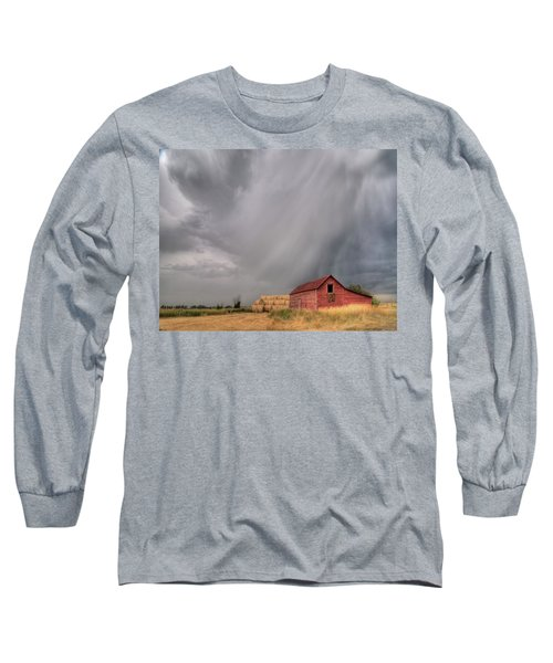 Hail Shaft And Montana Barn Long Sleeve T-Shirt