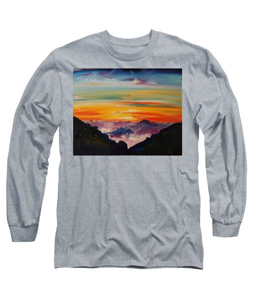 Haleakala Volcano Sunrise In Maui      101 Long Sleeve T-Shirt