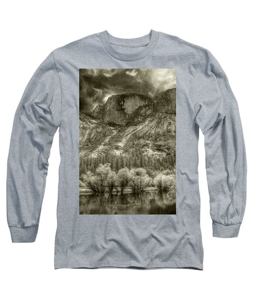 Half Dome Over Mirror Lake Long Sleeve T-Shirt