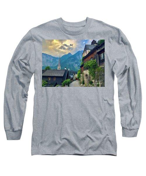 Hallstatt Village Stroll Long Sleeve T-Shirt