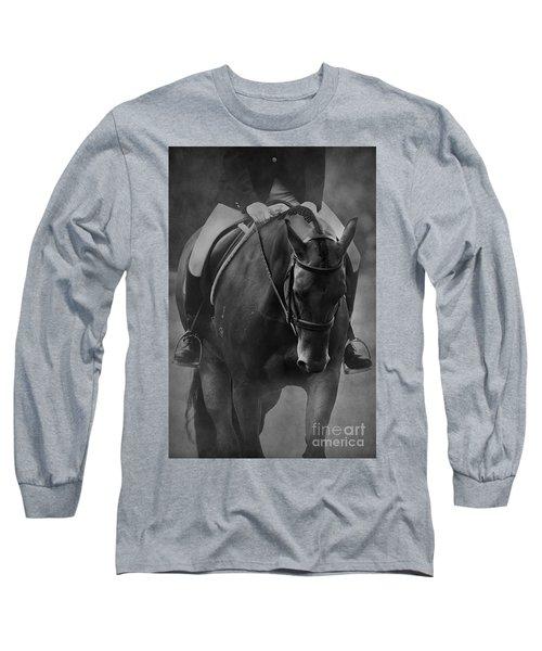 Halt Black And White Long Sleeve T-Shirt
