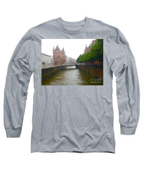 Hamburg Germany Canal Long Sleeve T-Shirt