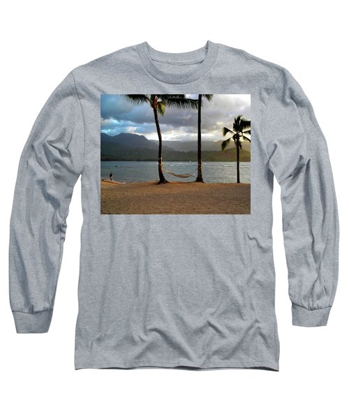 Hammock At Hanalei Bay Long Sleeve T-Shirt