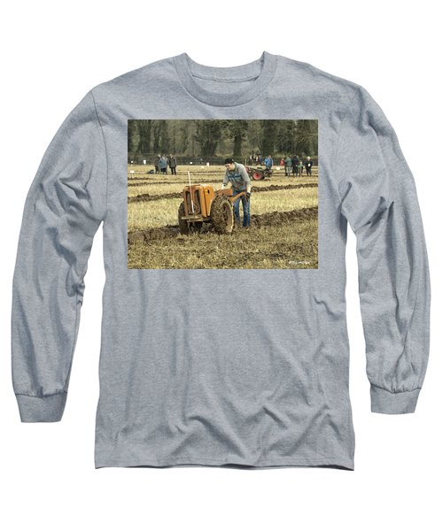 Hand Held Tractor Plough Long Sleeve T-Shirt by Roy McPeak