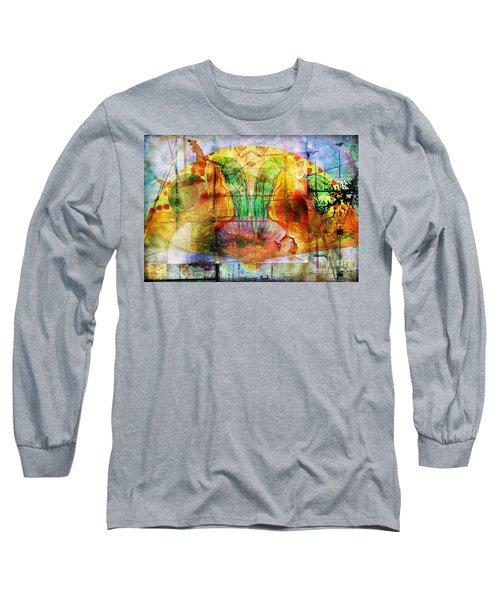 Handheld Fan Long Sleeve T-Shirt
