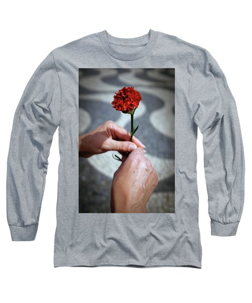 Hands And Carnation Long Sleeve T-Shirt