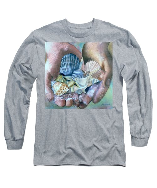 Hands With Shells Long Sleeve T-Shirt
