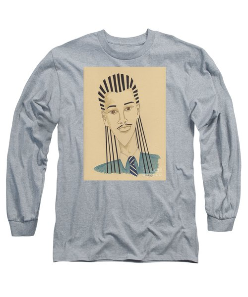 Handsome Young Man -- Stylized Portrait Of African-american Man Long Sleeve T-Shirt