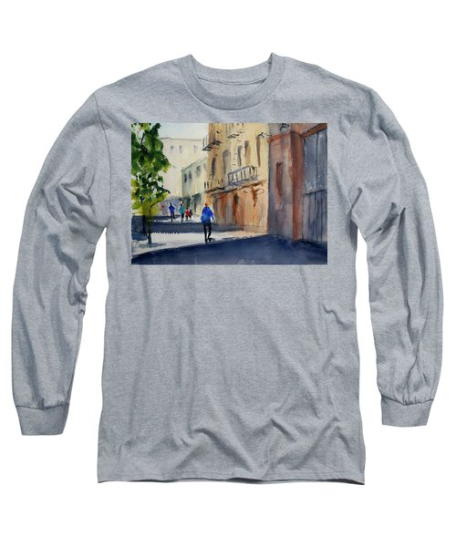 Hang Ah Alley Long Sleeve T-Shirt by Tom Simmons