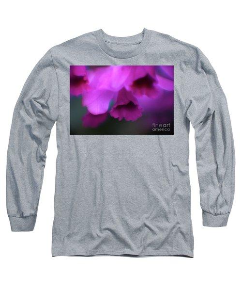 Hanging Purple Tropical Flowers Up Close- Kauai- Hawaii Long Sleeve T-Shirt