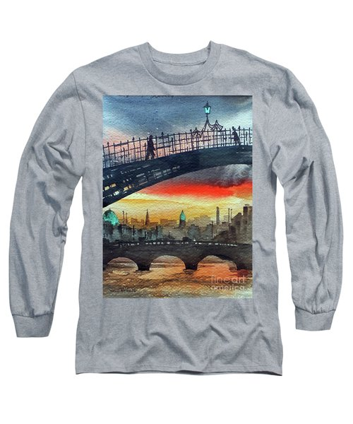 Hapenny Bridge Sunset, Dublin...27apr18 Long Sleeve T-Shirt