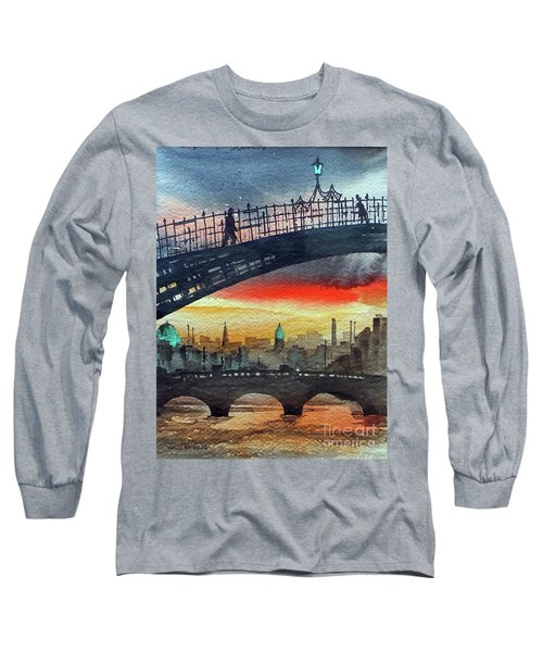 Hapenny Bridge Sunset, Dublin...27apr18 Long Sleeve T-Shirt